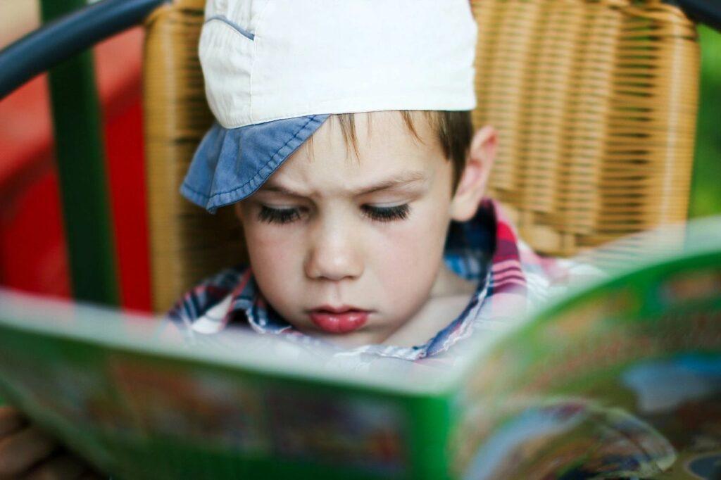 boy reads